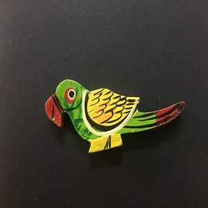 Wooden Painted Parrot