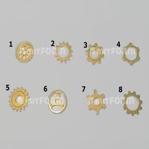 Mitform Metal Embellishment 10MM - Toothed Wheels No. 2