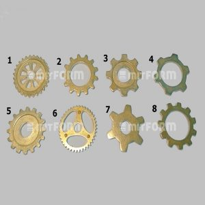Mitform Metal Embellishment 20MM - Toothed Wheels No: 2
