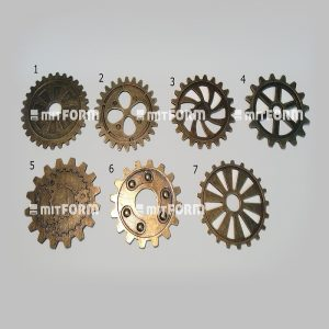 Mitform Metal Embellishment 40MM - Toothed Wheels No: 2