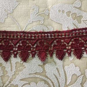 Embroidered Maroon Lace
