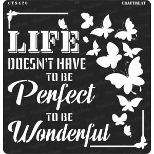 CrafTreat Stencil - Wonderful Life 12 x 12