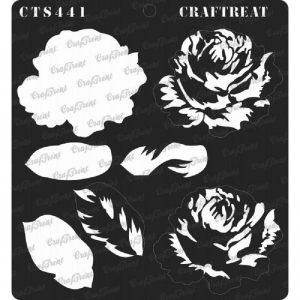 CrafTreat Stencil - Rose 3