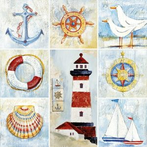 Sea Theme Decoupage Napkin