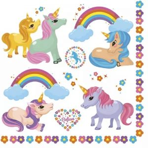 Rainbow Baby Unicorns Decoupage Napkin