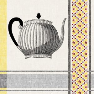 Silver Tea Pot Decoupage Napkin