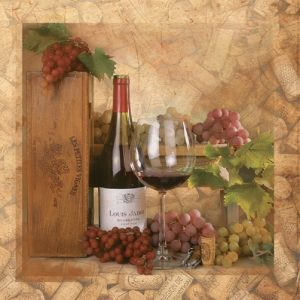 Wine Glass Decoupage Napkin