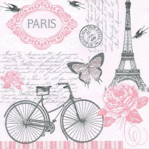 Paris Decoupage Napkin