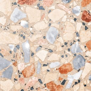 Glitter Stones In Cream And Peach Decoupage Napkin
