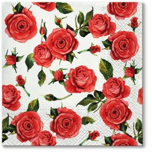 Rose Bud And Bloom Decoupage Napkin
