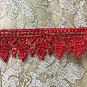 Embroidered Red Lace
