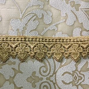 Embroidered Light Brown Lace