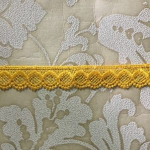 Embroidered Yellow Lace