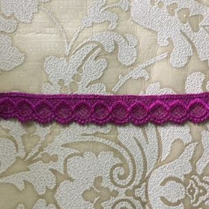 Embroidered Magenta Lace