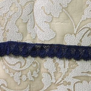 Embroidered Navy Blue Lace
