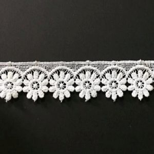 Embroidered White Lace