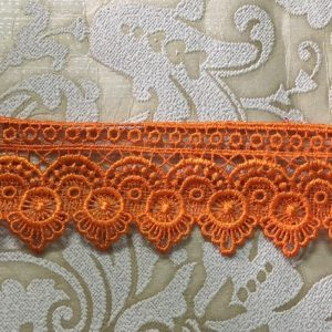 Embroidered Orange Lace