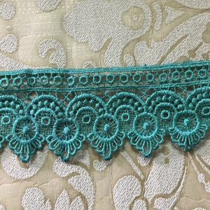 Embroidered Turquoise Green Lace
