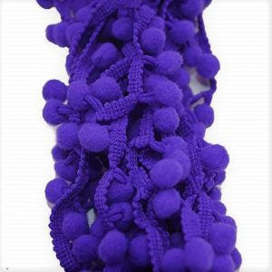 Dark Purple Pom Pom Lace