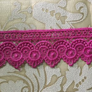 Embroidered Hot Pink Lace