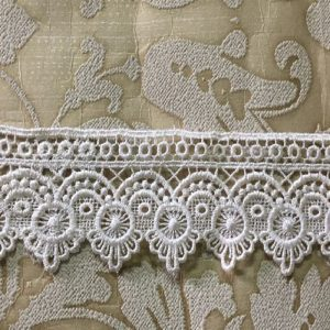 Embroidered Half White Lace