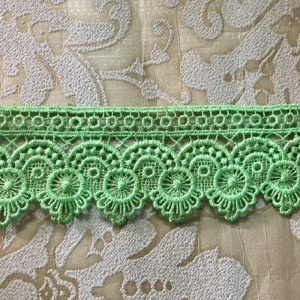 Embroidered Parrot Green Lace
