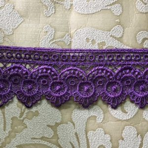 Embroidered Purple Lace