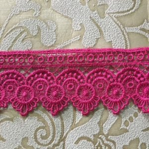 Embroidered Pink Lace