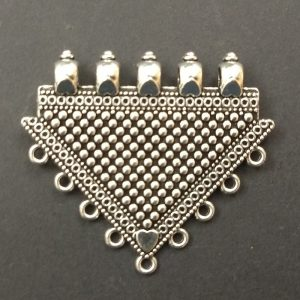 German Silver Triangle With Dots Pattern Pendant