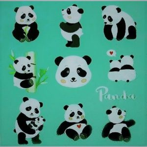 Different Emotion Of Panda Decoupage Napkin