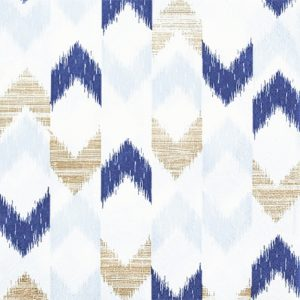 Ikkat Pattern In Blue Decoupage Napkin