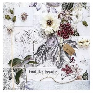 Find The Beauty Decoupage Napkin