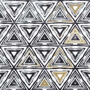Triangles Black Decoupage Napkin