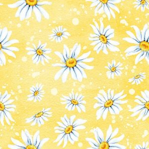 Daisy Flowers In Yellow Background Decoupage Napkin