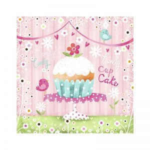 Lovely Cupcakes Decoupage Napkin