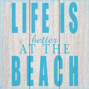 Life Is Better At The Beach Decoupage Napkin