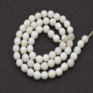 White Agate Beads