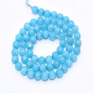 Baby Blue Agate Beads