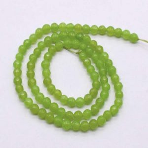 Lime Green Agate Beads