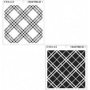CrafTreat Stencil - 2 Step Plaid