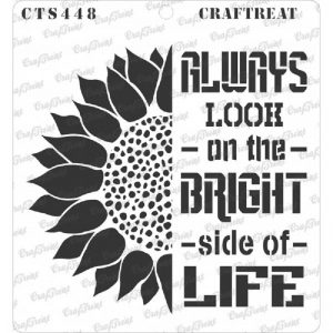 CrafTreat Stencil - Bright side of Life