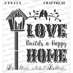 CrafTreat Stencil - Lovely Home