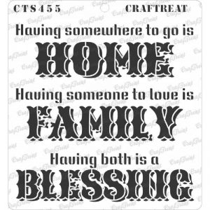 CrafTreat Stencil - Family Blessing