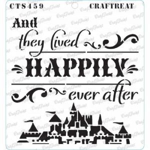 CrafTreat Stencil - Happily Ever After