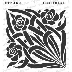 CrafTreat Stencil - Stained Glass Flowers