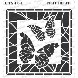 CrafTreat Stencil - Stained Glass Butterflies