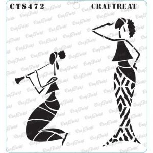 CrafTreat Stencil - Enjoying Music