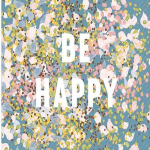 Be Happy Decoupage Napkin