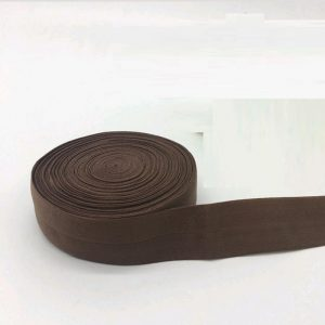 Fold Over Elastic - Brown