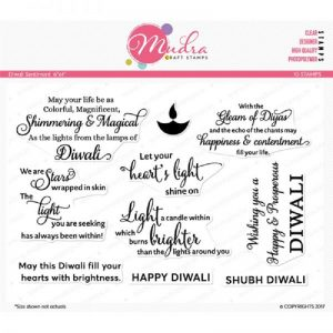 Mudra Clear Stamp - Diwali Sentiment